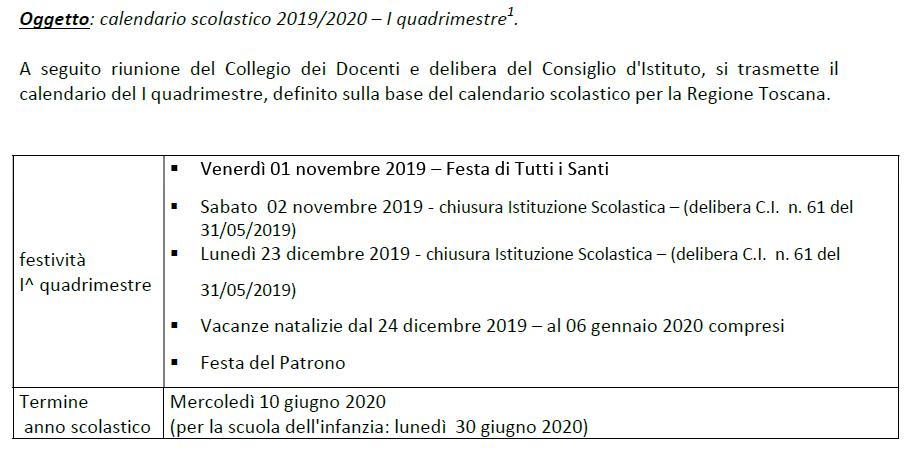 cale 2019 2020 ICS